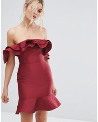 C/meo Collective - Extant Off Shoulder Ruffle Dress - Lyst