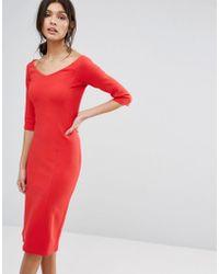 Reiss - Aimee Jersey Off The Shoulder Dress - Lyst