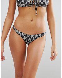 Amuse Society - Geo Print Skimpy Bikini Bottom - Lyst