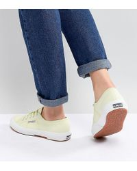 Superga - 2750 Canvas Trainers In Yellow - Lyst