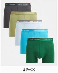 Tommy Hilfiger Набор Из 5 Боксеров-брифов Разных Цветов С Логотипом На Поясе -multi - Многоцветный
