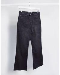Stradivarius Crop Flare Jeans - Black