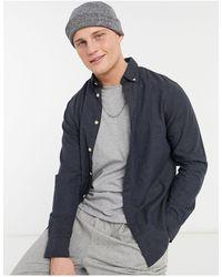 SELECTED Houston - Camicia slim fit a maniche lunghe - Blu