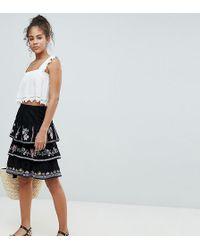 cdaa44d96 Vero Moda Paperbag Waist Mini Skirt in Black - Lyst