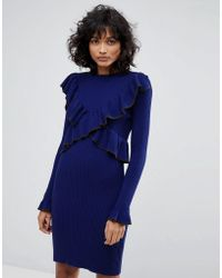 2nd Day - Frilly Knitted Dress - Lyst