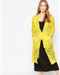 Closet - Wardrobe Lace Duster Coat - Lyst