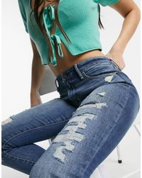 Abercrombie & Fitch Distressed Skinny Jeans - Blue