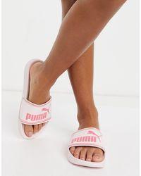 PUMA Leadcat Sliders - Pink