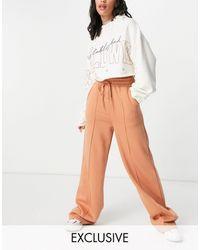 Missguided Wide Leg jogger - Orange