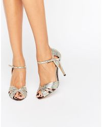 True Decadence Gold Heeled Sandals - Metallic