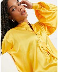 Elvi Pintuck Shirt - Yellow