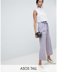 ASOS - Culotte con cintura anudada Mix & Match - Lyst