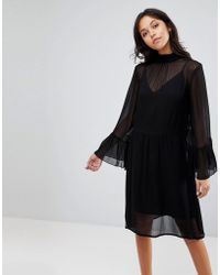 Gestuz - Floaty Dress With Fluted Sleeves - Lyst