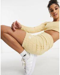adidas Originals 'relaxed Risqué' - Donzige Gebreide leggingshort - Naturel