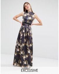 True Violet - Full Satin Skirt - Lyst