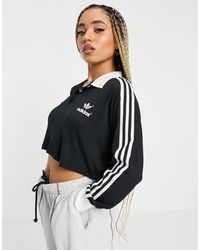 adidas Originals 3 Stripe Long Sleeve T-shirt - Black