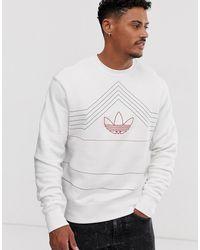 adidas Originals Sudadera blanca con logo bordado - Blanco