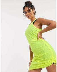 ASOS 4505 Платье Со Сборками -зеленый Цвет