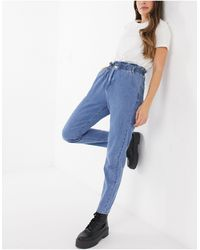 In The Style X Billie Faiers Paperbag Waist Jeans - Blue
