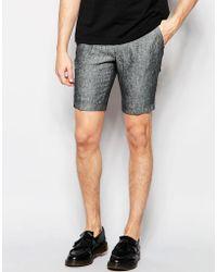 Vito - 100% Linen Formal Shorts - Lyst