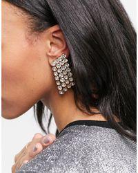 ASOS Boucles d'oreilles avec bijoux et pendants ornés - Métallisé