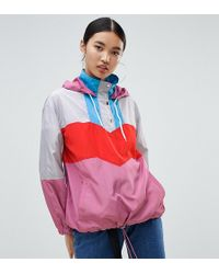 NA-KD - Colourblock Track Jacket In Pink Multi - Lyst