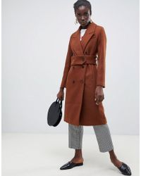 SELECTED - Wool Double Breasted Midi Length Coat - Lyst