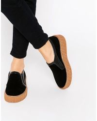 Truffle Collection - Flatform Creeper Slip On Trainers - Lyst