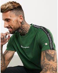 Champion Зеленая Футболка С Логотипом -зеленый