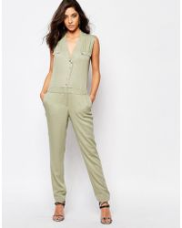SuperTrash - Wensando Jumpsuit In New Army - Lyst