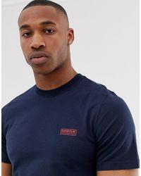 Barbour Slim Fit Logo T-shirt Navy Exclusive At Asos - Blue