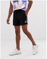 PUMA Pantalones cortos efecto teñido anudado en negro