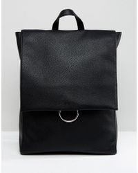 ASOS DESIGN - Ring Flap Backpack - Lyst