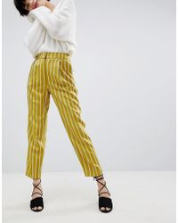 Warehouse - Stripe Tapered Trousers - Lyst
