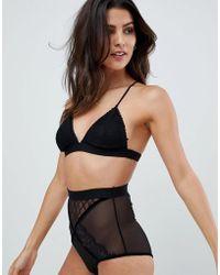 Glamorous Triangle Lace Bra - Black