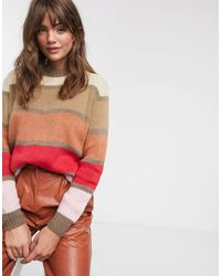 Glamorous Джемпер В Разноцветную Полоску -мульти - Красный