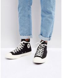 1c59ae4d85ea Converse - Chuck Taylor All Star  70 Hi Felt Sneakers In Black 157481c -  Lyst