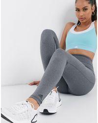 adidas Originals Серые Леггинсы Adidas Training-серый
