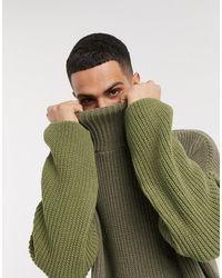ASOS Oversized Funnel Neck Sweater - Green