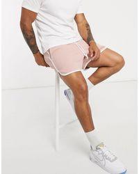 ASOS Розовые Свободные Трикотажные Шорты С Белой Окантовкой - Розовый