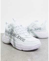 Calvin Klein Белые Кроссовки С Большим Логотипом Marquist-белый