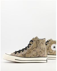 Converse Коричневые Высокие Кеды Со Змеиным Принтом Chuck 70 Hi-коричневый Цвет
