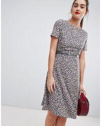 Sugarhill Remi Petal Print Midi Dress - Multicolor