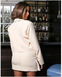 Public Desire X Amber Gill Boxy Crop Blazer - Yellow