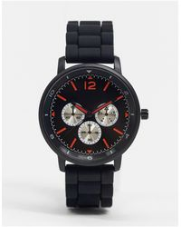 TOPMAN Mens Silicone Watch - Black