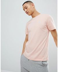 Abercrombie & Fitch - Moose Icon Logo Crew Neck T-shirt In Coral - Lyst