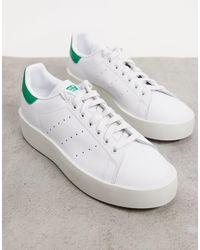 adidas Originals Stan Smith Bold Trainer - White