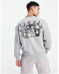 New Love Club – Dancing Cats – Sweatshirt - Grau