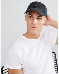 Polo Ralph Lauren – e Baseball-Kappe mit rotem Spieler-Logo - Schwarz