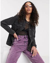 Noisy May Oversized Denim Jacket - Black